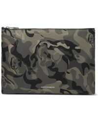 Alexander McQueen - Skull Camouflage-print Shell Pouch - Lyst