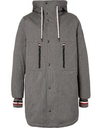 Moncler Gamme Bleu   Faux Shearling-lined Cotton-blend Twill Down Coat   Lyst