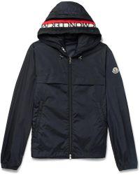 Moncler - Gradignan Stripe-trimmed Shell Hooded Jacket - Lyst