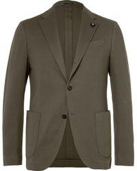 Lardini | Olive Slim-fit Unstructured Cotton Blazer | Lyst