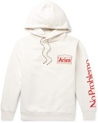 Aries - White Double Thickness Temple Hoodie - Lyst