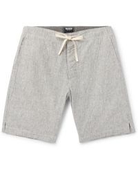 Todd Snyder - Striped Slub Cotton Drawstring Shorts - Lyst