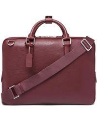 Smythson - Burlington Pebble-grain Leather Briefcase - Lyst