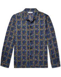 Nonnative - + Liberty Camp-collar Floral-print Cotton-blend Shirt - Lyst