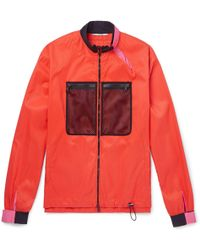Valentino - Mesh-panelled Shell Jacket - Lyst