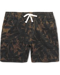J.Crew - Printed Stretch-cotton Twill Shorts - Lyst