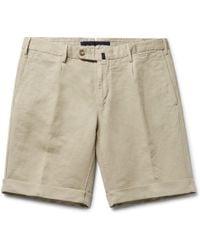 Incotex - Slim-fit Linen And Cotton-blend Shorts - Lyst