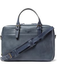Bleu De Chauffe - Full-grain Leather Briefcase - Lyst
