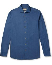 Hackett | Mayfair Cotton-chambray Shirt | Lyst