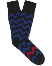 Paul Smith - Patterned Stretch Cotton-blend Socks - Lyst
