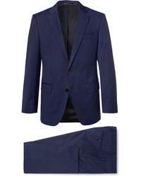 BOSS - Navy Huge/genius Slim-fit Super 120s Virgin Wool Suit - Lyst