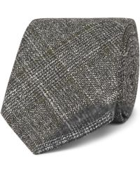Hackett - 8cm Prince Of Wales Checked Wool, Silk And Cashmere-blend Tie - Lyst