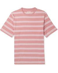 Arpenteur - Match Striped Cotton-jersey T-shirt - Lyst