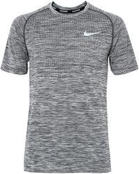 Nike - Knit-panelled Dri-fit T-shirt - Lyst
