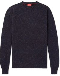 Isaia - Donegal Mélange Cashmere Sweater - Lyst