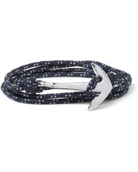 Miansai - Anchor Cord Silver-plated Wrap Bracelet - Lyst