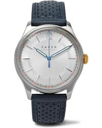 Farer - Kingsley Stainless Steel And Leather Watch - Lyst
