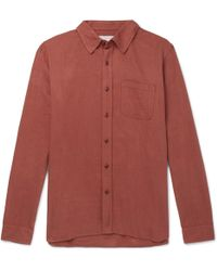 Outerknown - Brushed Organic Cotton-flannel Shirt - Lyst
