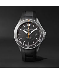 Baume & Mercier - Clifton Club Automatic 42mm Stainless Steel And Vulcanised Rubber Watch - Lyst