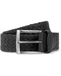 Andersons - 4cm Black Woven Leather Belt - Lyst