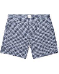 8c1c505966 Sunspel - Mid-length Printed Swim Shorts - Lyst