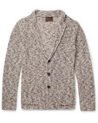 Altea - Mouline Mélange Knitted Cardigan - Lyst