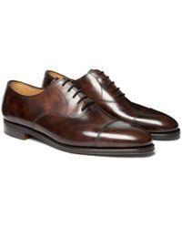 John Lobb - City Ii Burnished-leather Oxford Shoes - Lyst