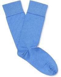 John Smedley - Sigma Sea Island Cotton-blend Socks - Lyst
