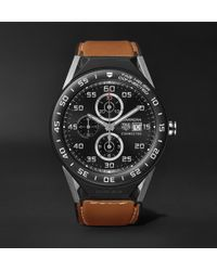 Tag Heuer - Connected Modular 45mm Titanium, Ceramic And Leather Smart Watch - Lyst