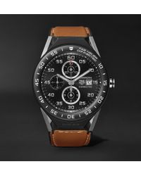 Tag Heuer | Connected Modular 45mm Titanium, Ceramic And Leather Smartwatch | Lyst