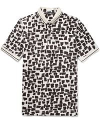 Dolce & Gabbana - Slim-fit Printed Cotton-piqué Polo Shirt - Lyst