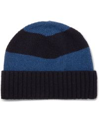 Oliver Spencer - Striped Wool Beanie - Lyst