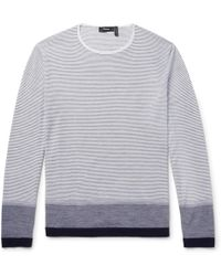 Theory - Striped Wool Jumper - Lyst
