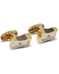 Paul Smith | Pencil Sharpener Gold And Silver-tone Cufflinks | Lyst