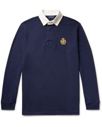 Polo Ralph Lauren - Logo-embroidered Twill-trimmed Cotton-jersey Polo Shirt - Lyst