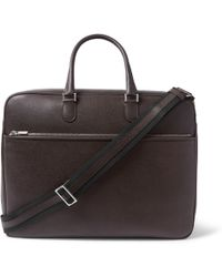 Valextra - Pebble-grain Leather Briefcase - Lyst