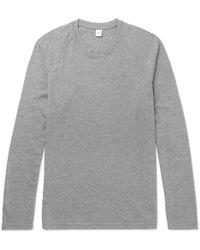 Aspesi - Mélange Cotton-blend Jersey T-shirt - Lyst