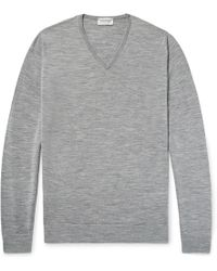 John Smedley - Blenheim Mélange Merino Wool Sweater - Lyst