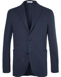 Boglioli - Navy Stretch-cotton Twill Suit Jacket - Lyst