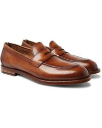Officine Creative - Ivy Polished-leather Penny Loafers - Lyst