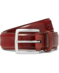 George Cleverley - 3.5cm Cognac Polished-leather Belt - Lyst