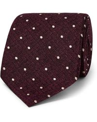 Tom Ford - 8cm Polka-dot Metallic Silk-jacquard Tie - Lyst