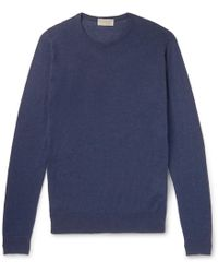 John Smedley - Theon Slim-fit Sea Island Cotton And Cashmere-blend Sweater - Lyst