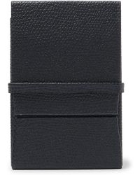 Valextra - Pebble-grain Leather Business Cardholder - Lyst