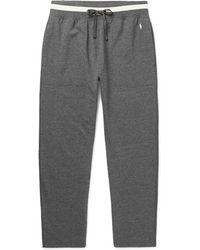 Polo Ralph Lauren - Tapered Mélange Fleece-back Cotton-blend Jersey Joggers - Lyst