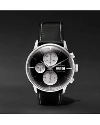 Junghans - Max Bill Automatic 40mm Stainless Steel And Leather Watch - Lyst