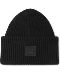 Acne | Ribbed Wool Beanie | Lyst