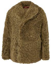 Sies Marjan - Emery Tigrado Oversized Double-breasted Shearling Coat - Lyst