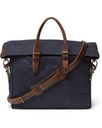 Bleu De Chauffe - Remix Leather-trimmed Canvas Briefcase - Lyst
