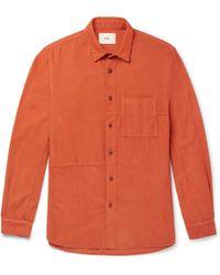Folk - Fragment Slim-fit Cotton-corduroy Shirt - Lyst